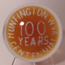 "A Huge JOHN GENTILE Commemorative "" HUNTINGTON W.VA. "" Art Glass Paperweight"