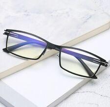 Hingeless Steel Elastic blue film anti-blue light Business Men's Reading Glasses