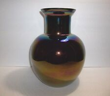 Vintage CAMBRIDGE Blown Glass IRIDESCENT Vase HUGE Rare