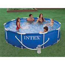 "Intex 10' x 30"" Metal Frame Set Swimming Pool w/ Filter Pump 28201EH (Open Box)"