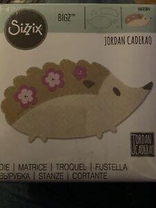 New And Sealed Sizzix Bigz Jordan Caderao Hedgehog #2 Cutting Die