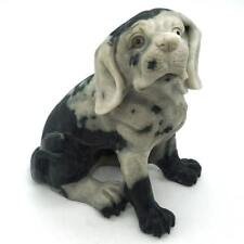 "Dog Figurine 5.74"" Natural Gemstone Dushan Jade Hand Carved Animal Statue Decor"