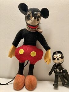 rare 1930 mickey mouse antique velveteen early germany Kersa ID steiff doll old