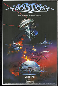 Boston autographed gig poster Tom Scholz, Kimberley Dahme, Brad Delp, Fran Cosmo