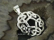 Ketten Anhänger Keltischer Knoten CELTIC Keltisch Celtic Rund Silber 925