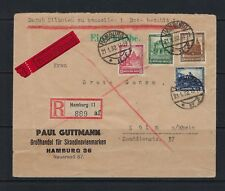 1932 Germany Scott B38-B41 on registered special delivery cover Hamburg-Cologne