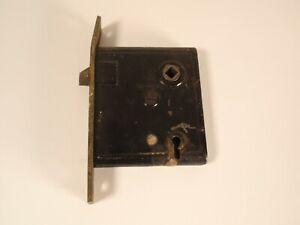 Antique M W Co Mortise Interior Door Lock Hardware Restore Black Heavy 1873