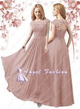AngelFashion New Design M03 Bridesmaid Evening Formal Party Prom Dress UK 8-24