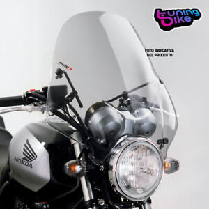 PUIG WINDSHIELD RANGER FOR HYOSUNG GT650 iR 13-18 LIGHT SMOKE