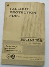 Pamphlet For Fallout Protection For Homes With Basements 1967
