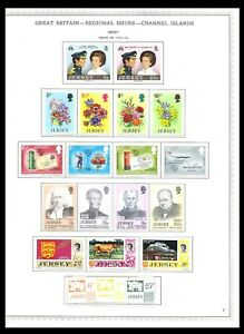 JERSEY 1973-75 ISSUES ON 3 PAGES (LHM/UHM) *CLEAN & FRESH*