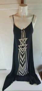 Billabong Geometric Black Maxi Dress Sz S