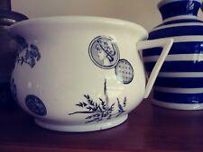 Chamber Pot, ESTHETIC, Antique Commode, White and Black Ceramic, Chamber Pot,