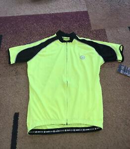 Men's Canari Optic Streamline Cycling Bicycle Bike Jersey S Killer Yellow NWT