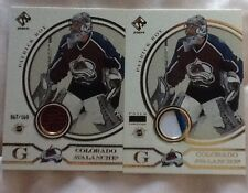 04 PRIVATE STOCK RESERVE 2 Cards GOLD JERSEY  AND PATCH PATRICK ROY rare