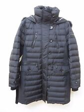 New Burberry Brit Pipeighf Down Puffer Coat Jacket with Fur Hood Size M MSRP $
