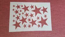 2099 Schablone Sterne Wandtattoo Stencils Leinwand Textilgestaltung Airbrush