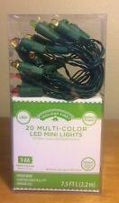Holiday Time 20 LED Multi-Color Mini Lights Battery Operated Christmas/Wedding
