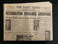 "The Daily News ""Resignation Demands Growing"" Newspaper (1974) - Richard Nixon"