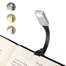 USB Rechargeable Clip On Book Light LED Flexible Reading Lamp For Reader Kindle&