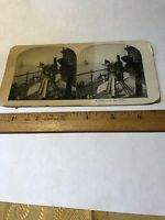 Vintage A Gunner on the Ohio STEREO VIEW CARD Stereoview Military