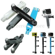 3 Way Extension Arm Pole Mount Helmet for Gopro Hero 5 4 3+ 3 2 SJCAM OS260