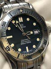 Omega Seamaster Bond Blue Diver Quartz Professional Midsize Mens Watch