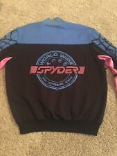 Spyder Vintage 80s 90s Pink Blue USA Olympics Ski Racing Padded Sweater L Large