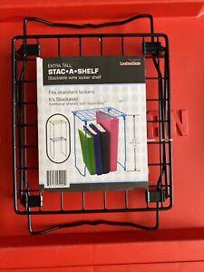"LockerMate 12"" Stac-A-Shelf Black"