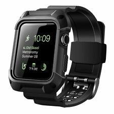 Men Women Apple Watch Series 3 2 Band Rugged Protective Case 42mm Black