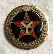 AUTHENTIC CAJUN FURY POLK JRTC OPFOR 04-05 COMMANDER RARE (REAL) CHALLENGE COIN