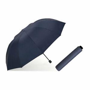 "60"" Large Umbrella Men/Women Three Folding Anti-UV Windproof Big Rain Umbrella"