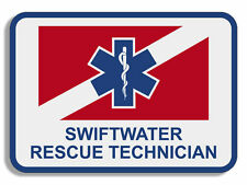"4"" swiftwater rescue technician service insignia sticker decal"