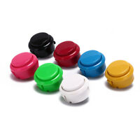 10pcs 30mm push buttons replace for arcade button games parts of 7 col HO