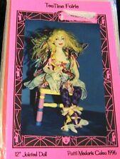 "Tea Time Faerie~Patti Medaris Culea 12"" jointed Rare 1996 cloth art doll pattern"