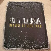 Kelly Clarkson Meaning of Life Official VIP Tour Throw Blanket - READ