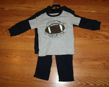 NWT Boys GYMBOREE 3 Pc Gray Navy Blue Football Pants Shirt Jacket Set Size 3T