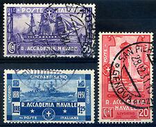 Regno d'Italia 1931 Accademia Navale di Livorno S60 n. 300/302 usati (m1352)