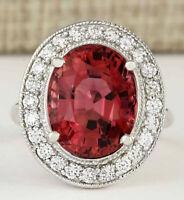 9.50 Carat Natural Tourmaline 14K White Gold Diamond Ring