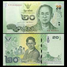 Thailand 20 Baht, 2017, P-New, COMM., King Rama IX, New design, UNC
