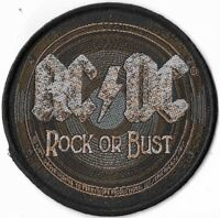 Official Licensed Merch Woven Sew-on PATCH Heavy Metal Rock AC/DC Rock or Bust