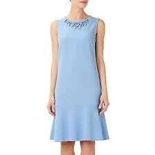 Ex Wallis Neck Embellished Summer shift Dress. Blue or Blush Pink