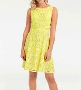 A-016# NEU! Designer-Spitzenkleid, gelb, Gr. 38, Ashley Brooke