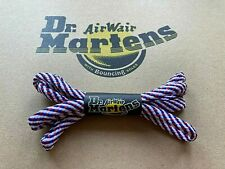 DR. MARTENS 8mm red white blue striped 60 cm cord laces 3-4 eyelets England NEW