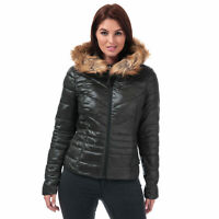 Womens Vero Moda Soraya Siv Faux Fur Trim Jacket In Green