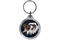 ResKey Schlüsselanhänger rund Hund Welpe beidseitig bedruckt