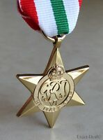 British & Commonwealth The Italy Star Military Campaign Medal WWII WW2
