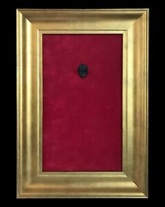 12x18 Frame Mini Guitar Display Frame - Red Suede - Warm Gold Leafing