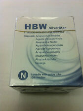"one box Silver Star #42x0.5""(0.14mmx13mm) acupuncture needle 100 pcs"