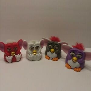 1998 Lot of 4  McDonalds Happy Meal Plastic FURBY TOYS All Work